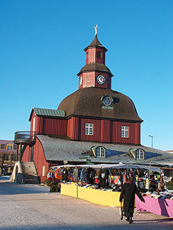 Marekt town in Sweden