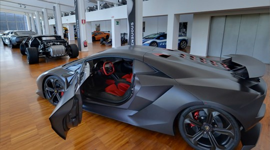 Snapshot of the Lamborghini Museum