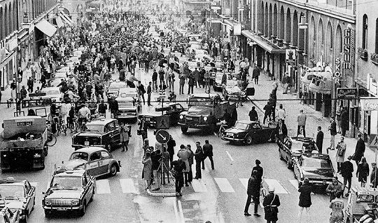 The day Sweden switched from left to right in 1967 Kungsgata