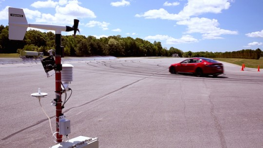 Tesla Model S on the Tesla Test Track