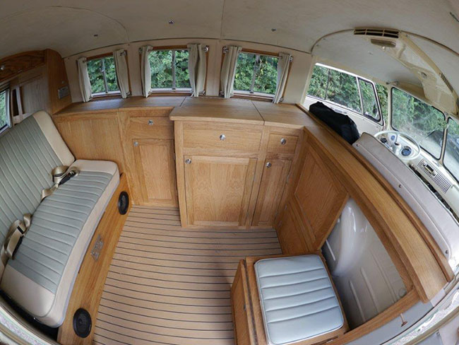 Fisheye lens shot of the interior
